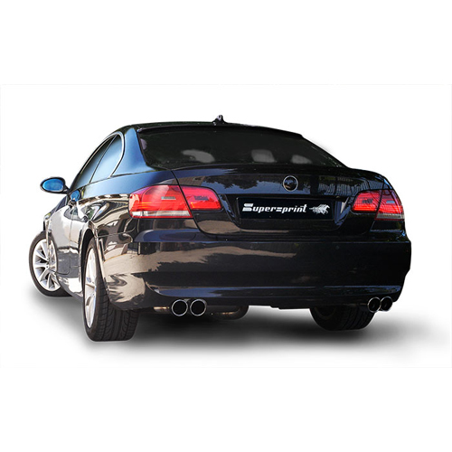 Bmw Xi Price: Supersprint Rear Section (Dual Outlet) For BMW E92/E93